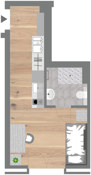 Grundriss - Student Apartment (Smart)