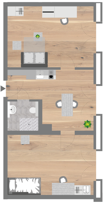 Grundriss - Professionals Apartment - EN (Extended)