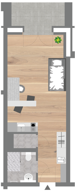Grundriss - Professionals Apartment (Compact)