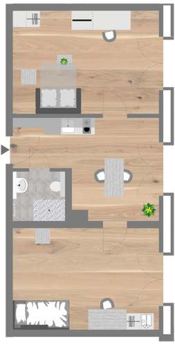 Grundriss - Professionals Apartment (Extended)